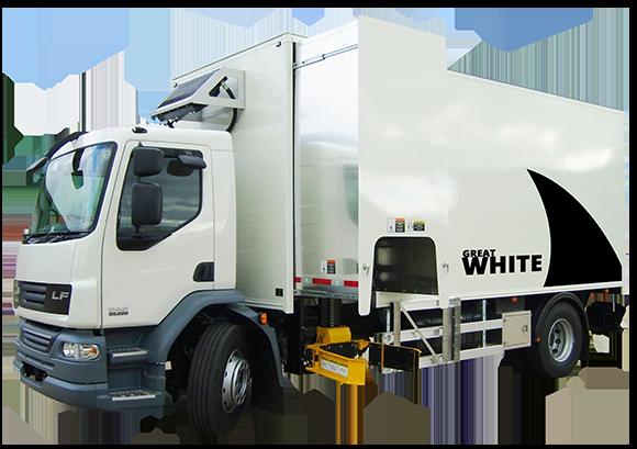 Great White Mobile Paper Shredding Truck