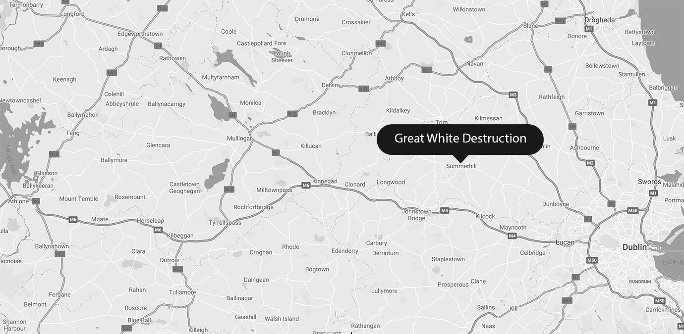 Great White Destruction Location Map