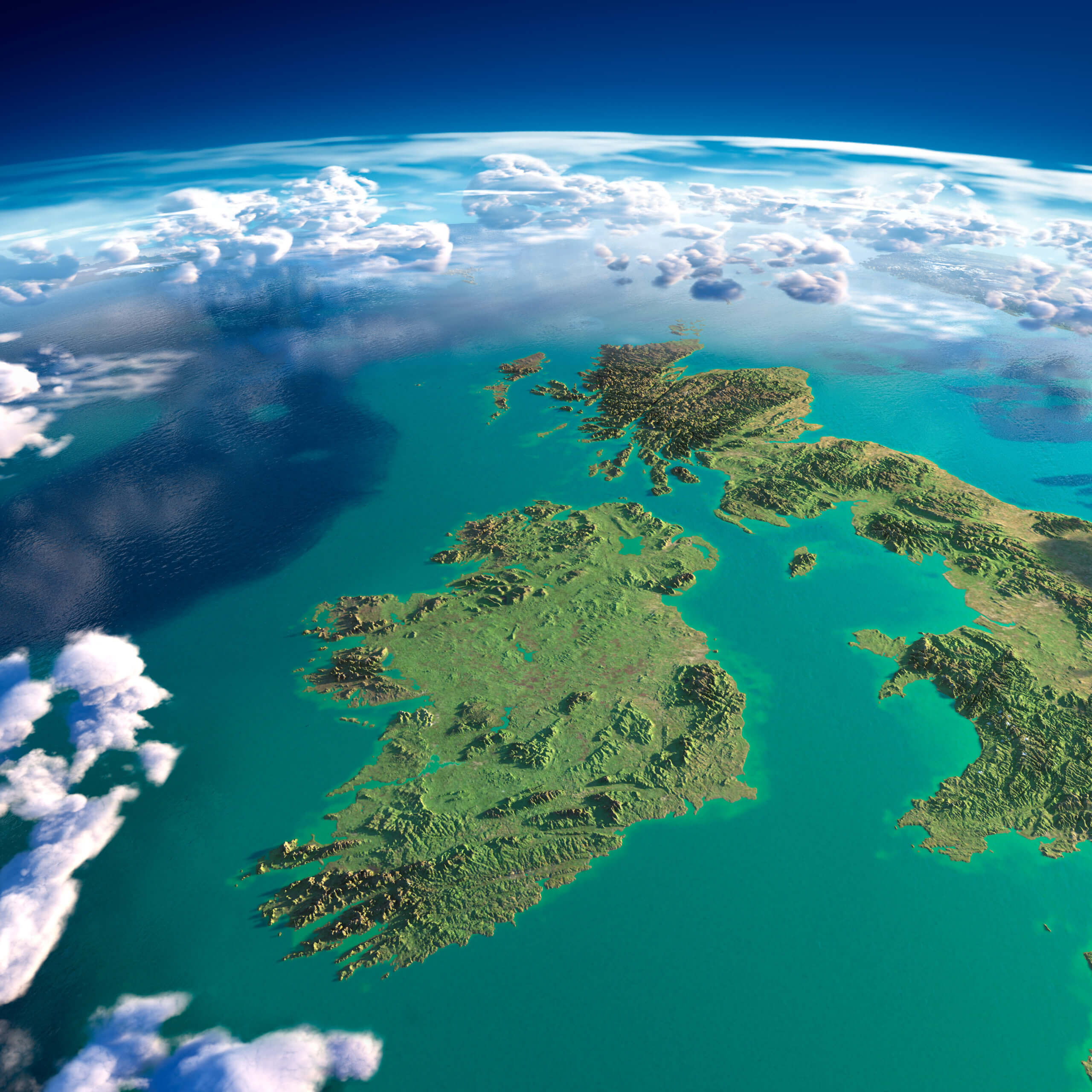 Image of Ireland from space