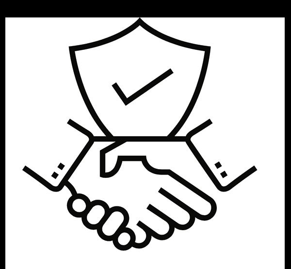 Shield and handshake | Paper Shredding Services & Data Destruction