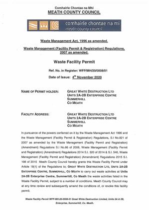 waste facility permit